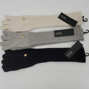🆕️  Badgley Mischka Shine Long Knit Wool Gloves